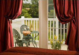 Hershey bed and breakfast in PA balcony