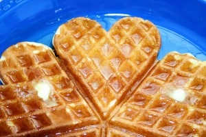Heart Shaped Apple Cinnamon Waffles