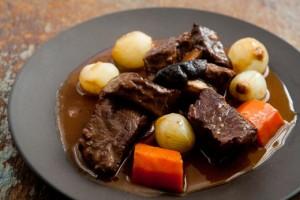Boeuf Bourguignon Recipe - In a Black Serving Dish