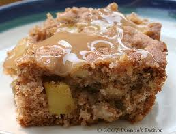 apple brownies with caramel