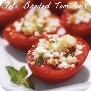 feta broiled tomatoes recipe