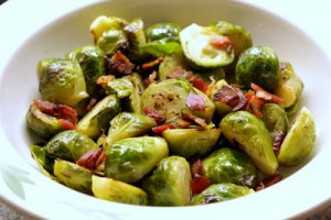 Brusssel Sprout recipe with bacon