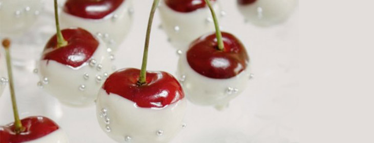 White chocolate-covered cherries