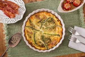 Expertly-seasoned quiche