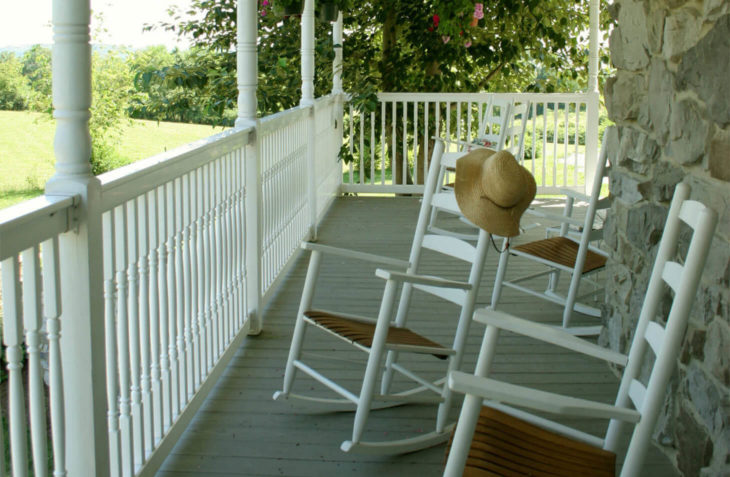 Fortune's Return Porch at our Hershey B&B
