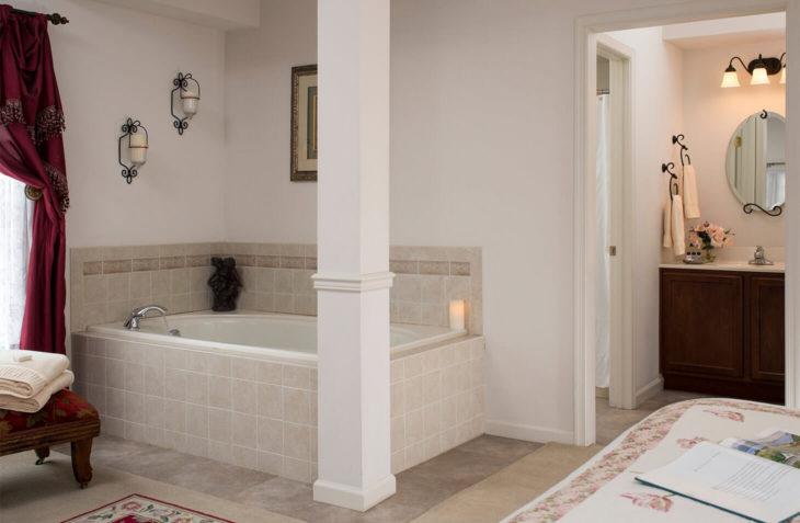 Landar bath at our Hershey, PA B&B