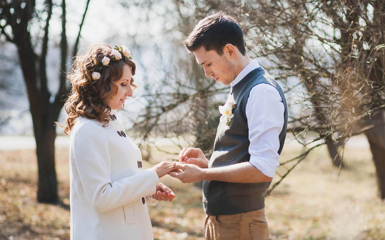 Small wedding in Hershey, Pennsylvania