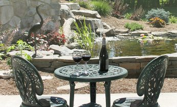 Wine on a table at our Hershey, PA bed and breakfast