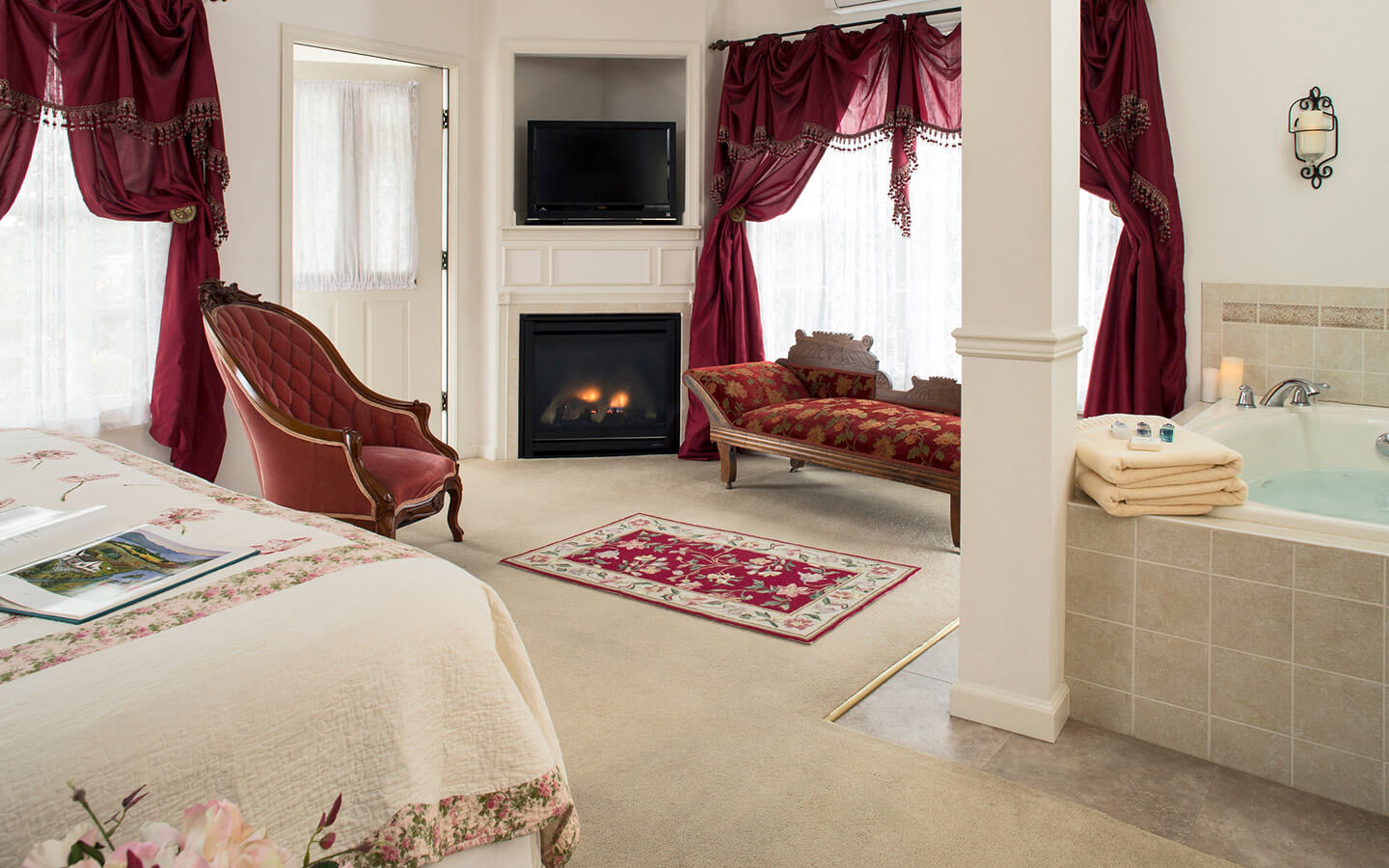 Our Landar Room is perfect for a romantic getaway in Hershey