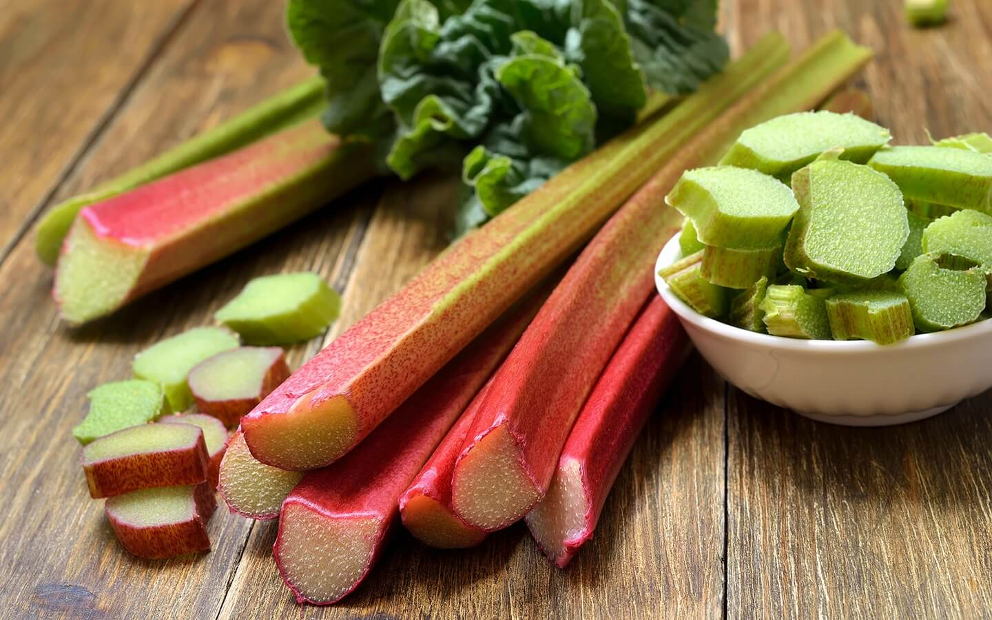 rhubarb on a table