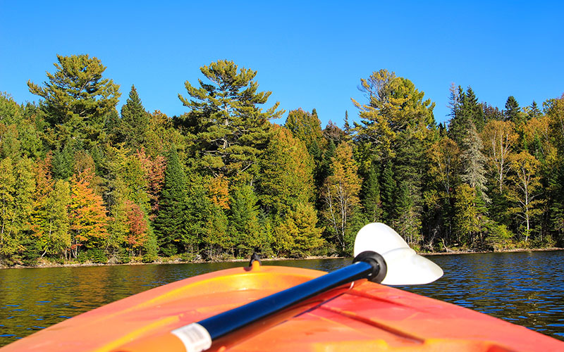 kayak in the fall
