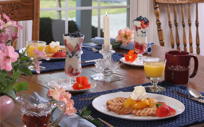 Breakfast in Hershey, PA bed and breakfast