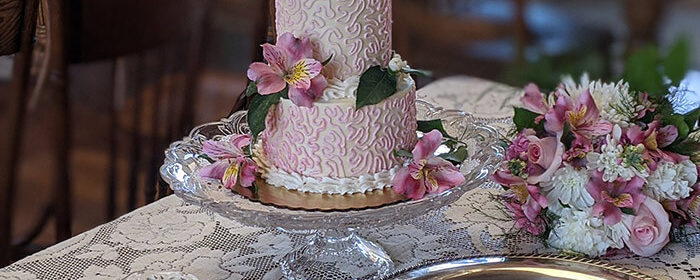 Wedding cake for an elopement in PA