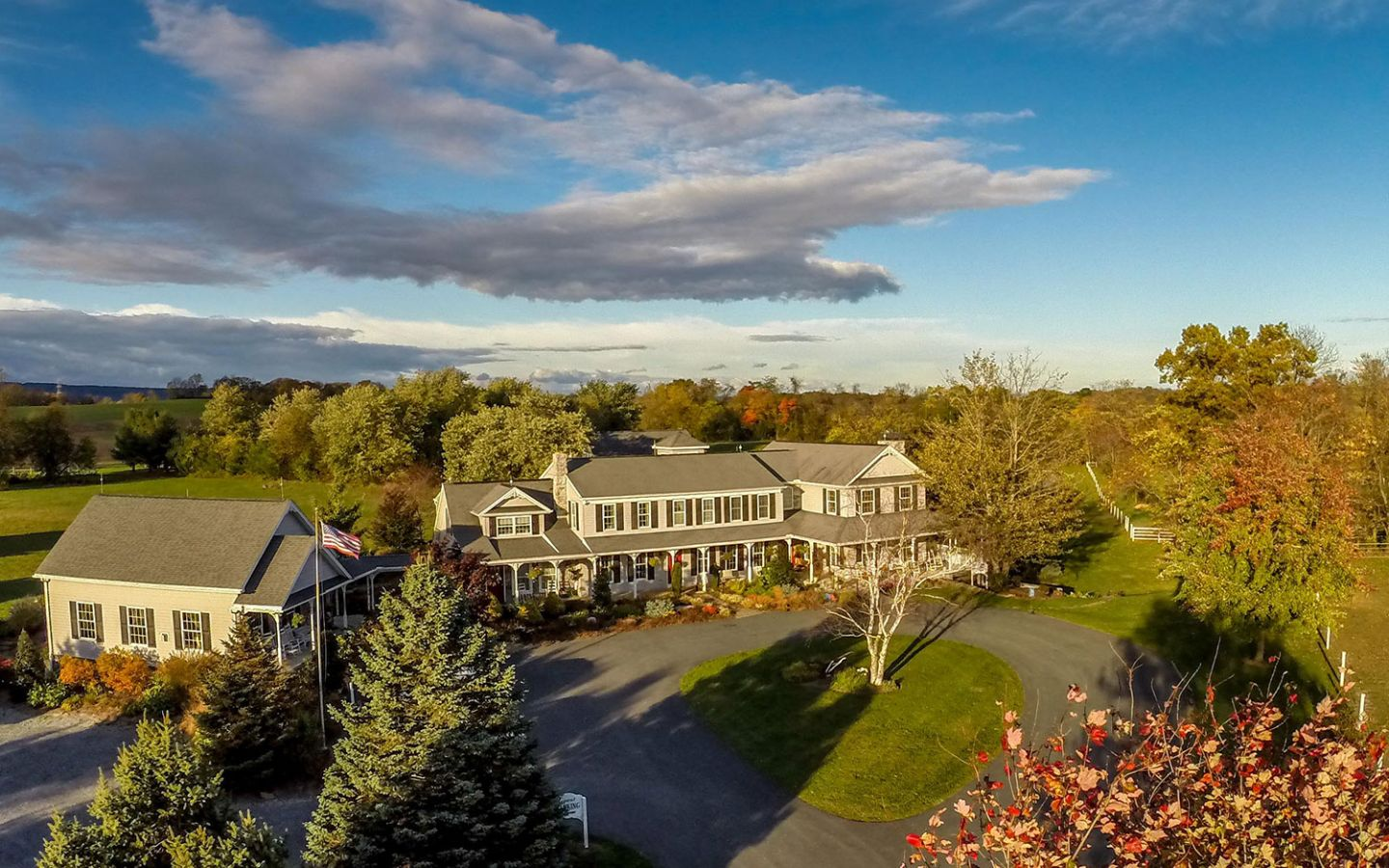 Aerial View of Our Hershey PA B&B in the Fall
