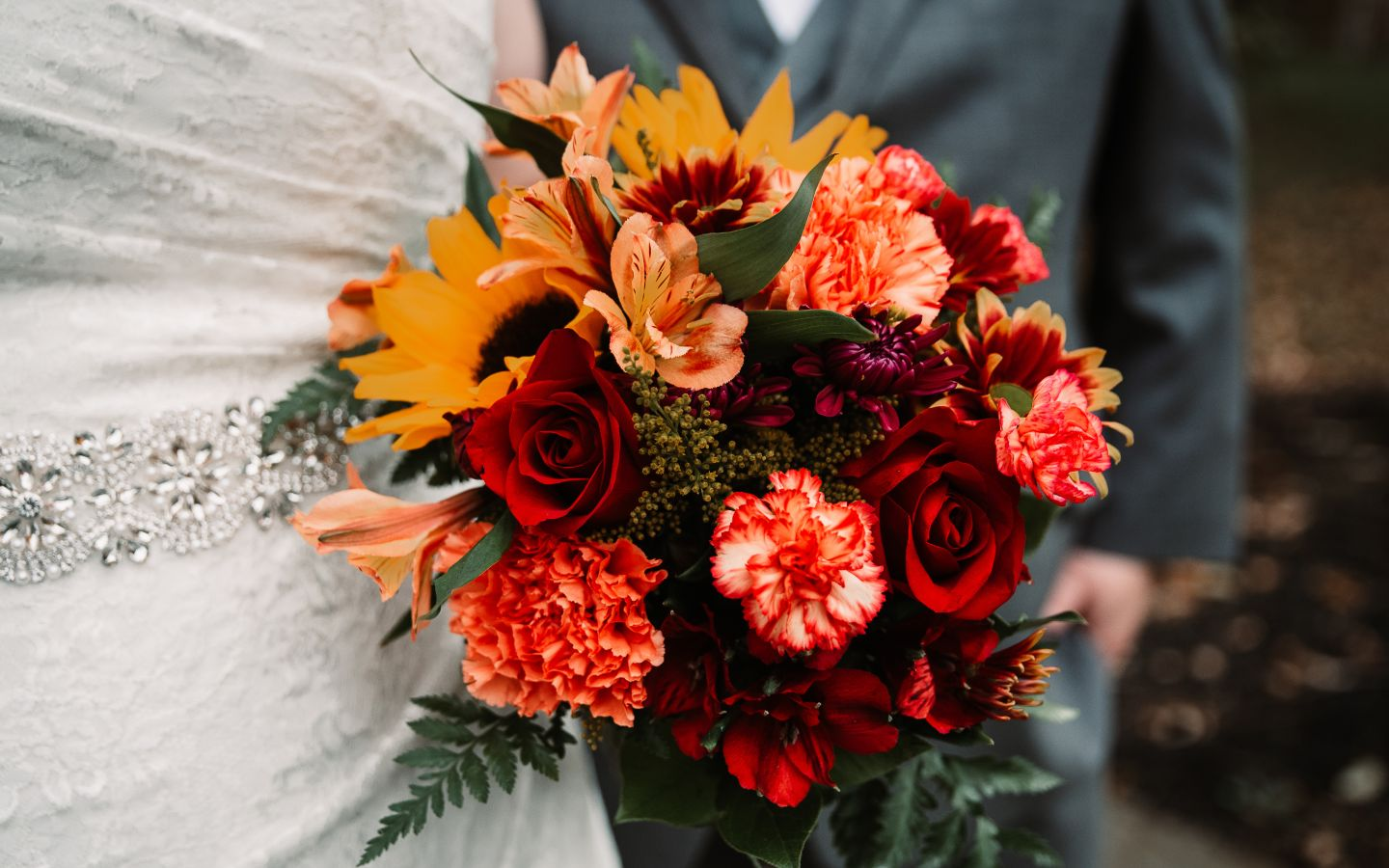 Fall Elopement in PA Bouquet